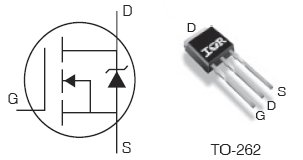 IRFSL3107PbF, 75V Single N-Channel HEXFET Power MOSFET in a TO-262 package